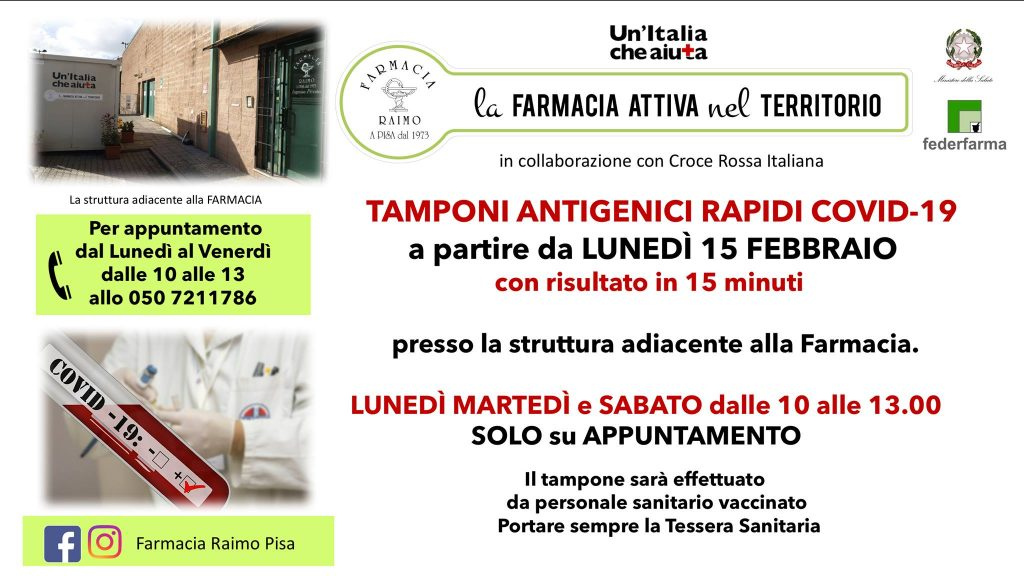 TAMPONI COVID PISA